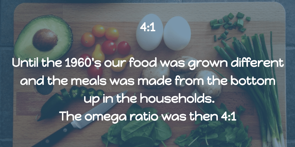 In the 1960's The omega ratio was in average 4:1